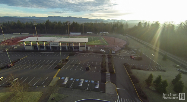 Looking east towards the Cascade mountains